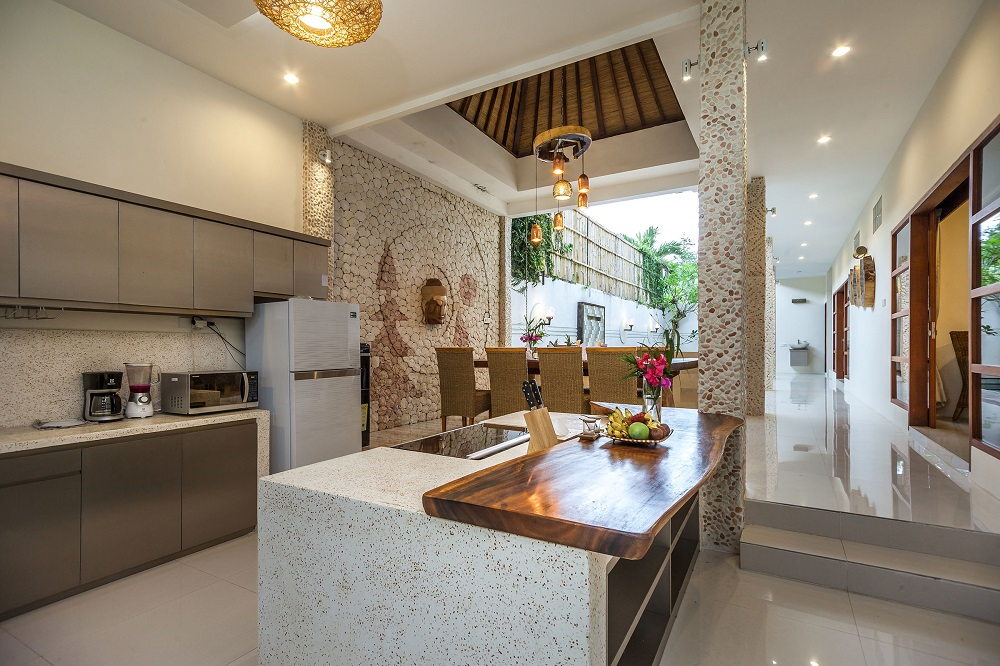 Villa Poetra kitchen with complete amenities